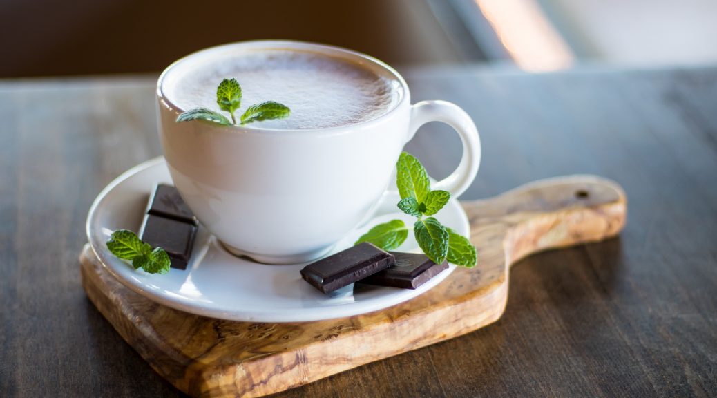 peppermint coffee with chocolate