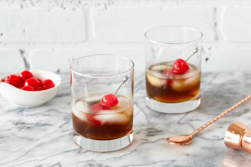 black russian coffee cocktail