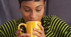 Does the scent of coffee affect the mood