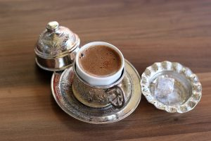 delicious mug of turkish coffee