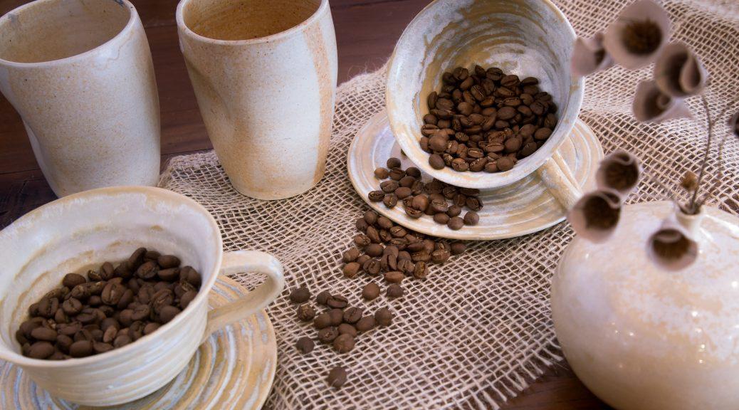 display of ethiopian coffee beans