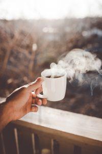 fresh cup of ethiopian coffee